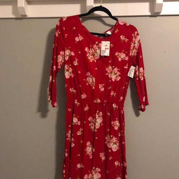 b596a9272fa1d Divided Dresses | Hm Red Floral Dress | Poshmark